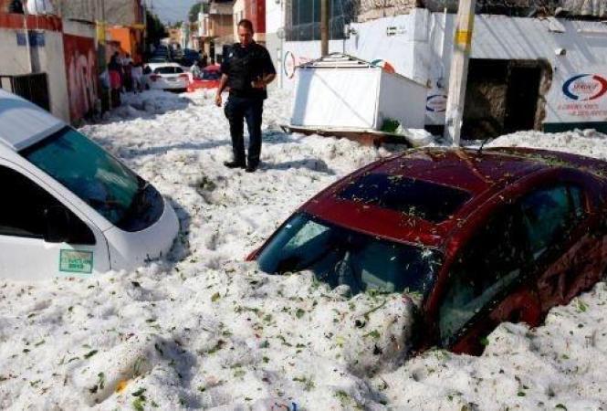 Мексика, снег