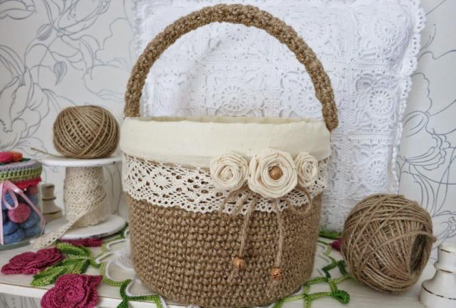 Вязание из джута