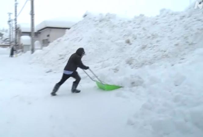 снегопад япония