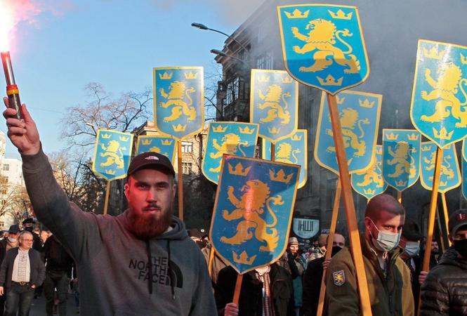 """МИД Украины осудило проведение в Киеве марша в честь годовщины создания СС """"Галичина"""""""