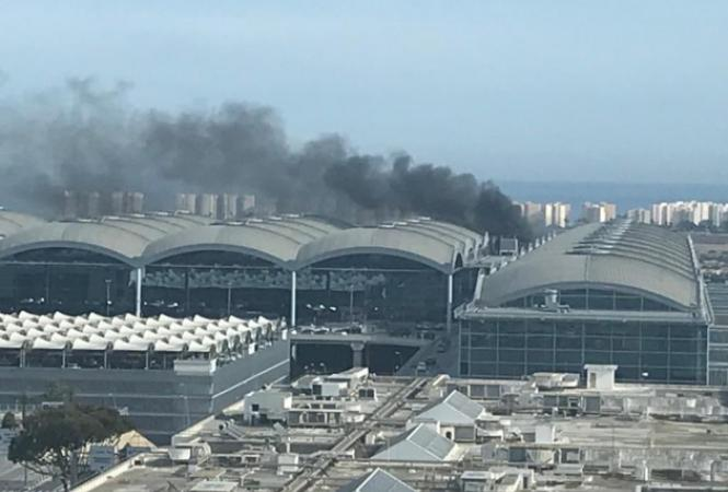 Испания, аэропорт, пожар