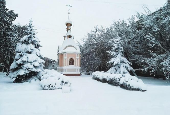 Луганск, снегопад
