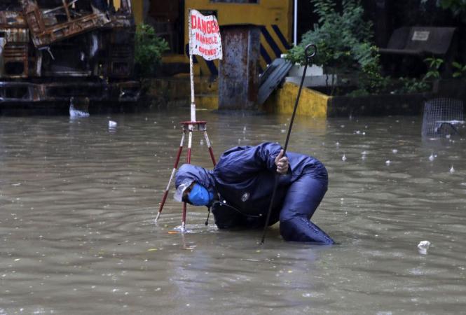 Наводнение на греческом острове Крит
