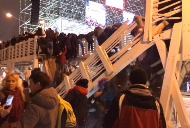 Обрушение моста в Москве