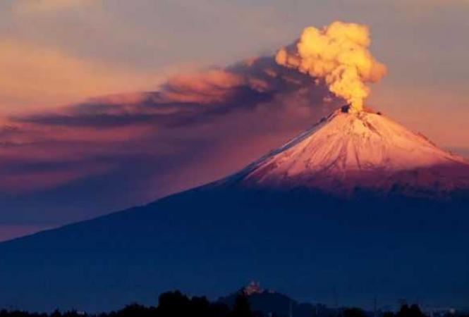 Мексика, извержение вулкана