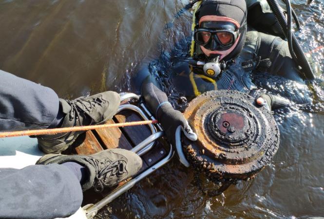 В киевском Гидропарке обнаружилипротивотанковую мину