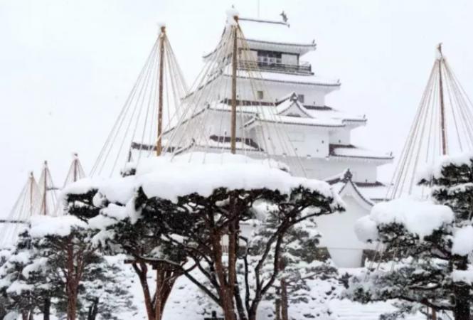 Японию накрыл сильный снегопад