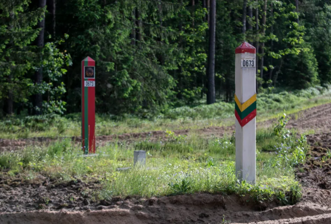 Литва, Беларусь, граница, мигранты