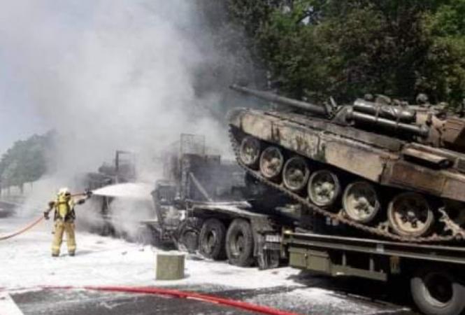 В Польше вДТП попали эвакуаторы, перевозившие боевые танки