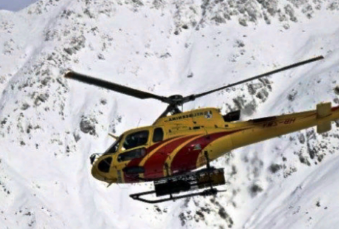 В Куршевеле разбился вертолет