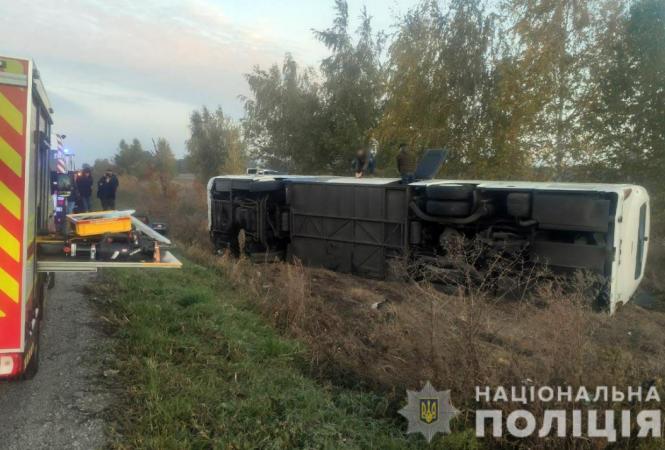 В ДТП попал автобус,следовавшийв Киев из Луганской области