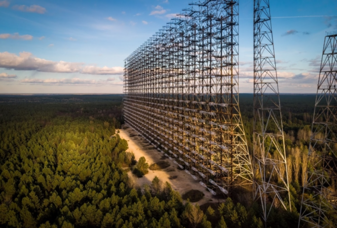 Радиолокационная станция в зоне ЧАЭС