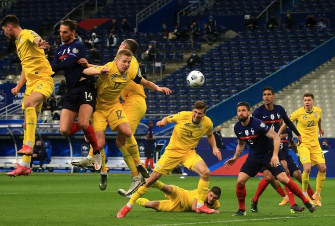 Сборная Украины сыграла вничью с чемпионами мира в отборочном матче ЧМ-2022