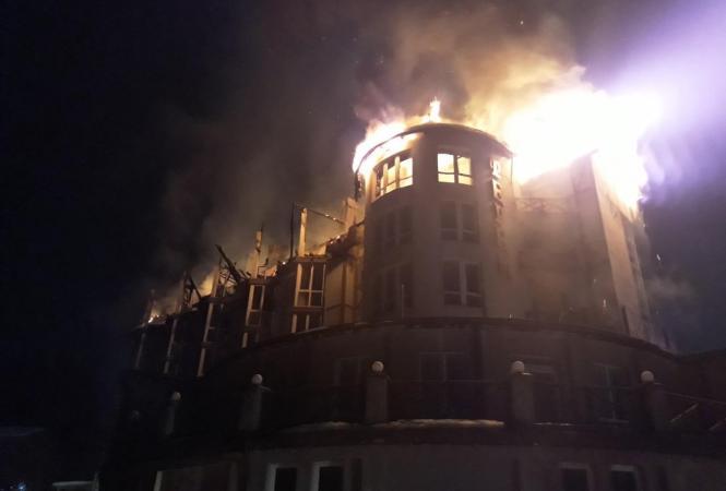 Львовская, пожар в отеле