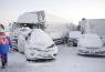 В Японии из-за снежного штормастолкнулось более 134 авто